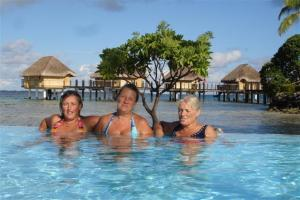 With Glenda and Susan at the Pearl Lodge resort