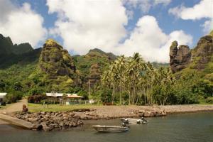 The little harbour at Fatu Hiva