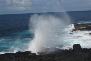 Spectacular blow hole