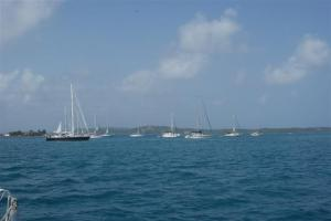 BWR boats anchored off Porvenir