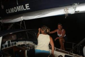Susan and I manned the aft lines
