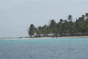 The beautiful beach at Chichime Cays