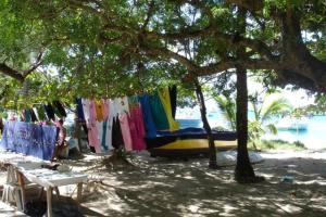 T-shirts for sale under the trees