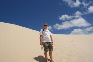 The ascent up the dunes was steeper than it looks