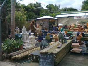 Funny garden supply shop