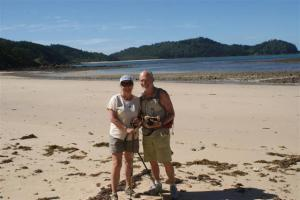 Norman and Sara on Oyster beach