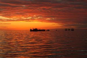 Beautiful sunset over 'Waterworld'