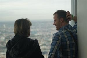 Chatting with James up The Shard