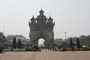 Patouxai, the Laos Arc de Triomphe