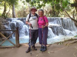 The base of the beautiful Kouang Si falls