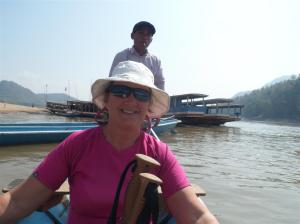Slow boat across the Mekong