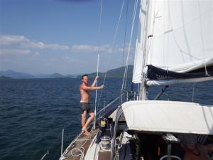 Sailing out to the Surin islands