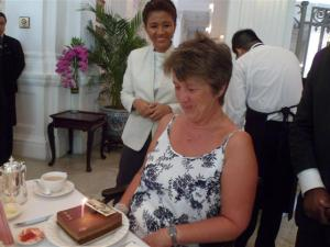 Followed by Birthday cake