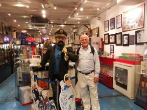 Bill with Captain Haddock