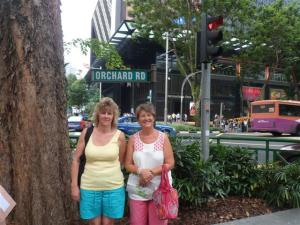 The famous Orchard Road