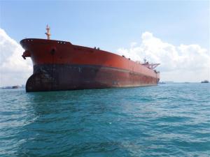 Lots of big cargo vessels