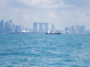 Marina Bay Sands hotel from the sea