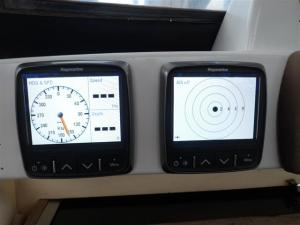 Speed and depth and chartplotter repeater on the port side
