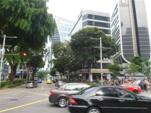 Busy streets of Singapore
