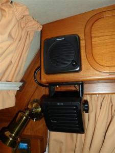 VHF speaker above the SSB speaker