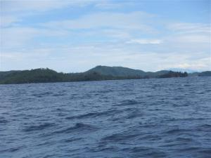 Approaching the northern tip of Borneo