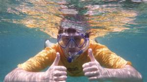 Thomas snorkelling