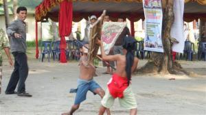 Local kids stickfighting