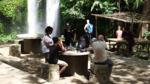 Picnic by the falls