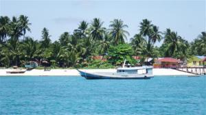 Anchored safely off  Derawan island
