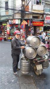 How many beer barrels can you get on a motorbike?
