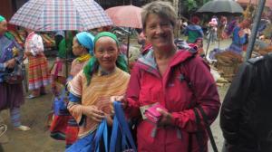 Buying goods in the Bac Ha market near Sapa