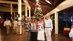 Norman, Sara, Sue and Bill at pre Christmas cocktail party at Rebak marina