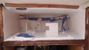 Inside of rudder housing nicely painted