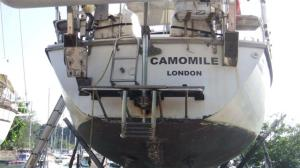 The 'before' picture of the transom