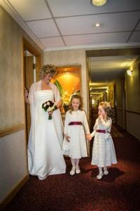 Angela with her flower girls