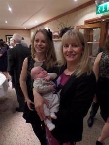 Amanda holding Logan