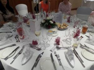 The tables looked lovely