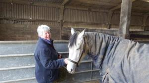 Sally with her lovely horse Maud