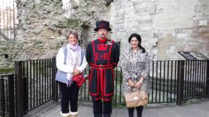 Sonal and I with our Beefeater