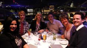 Dinner at the OXO tower with a stunning view of the London skyline in the evening - best table in the house!
