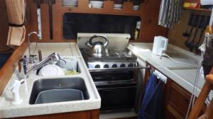 A nice clean galley