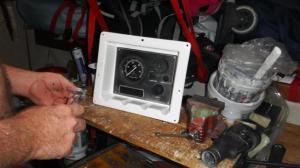 Engine starter panel