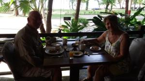 Birthday breakfast in resort