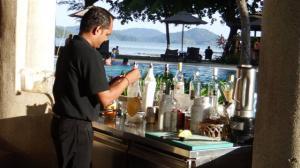Barman mixing my Zombie