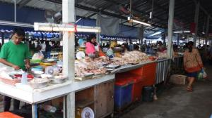 Open stall selling chicken