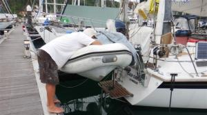 Undercoating the dinghy