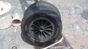 New tyres on the dinghy wheels
