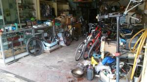 The bike work shop