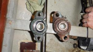 The new and the old flange