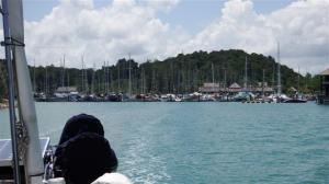 Byebye Rebak marina.